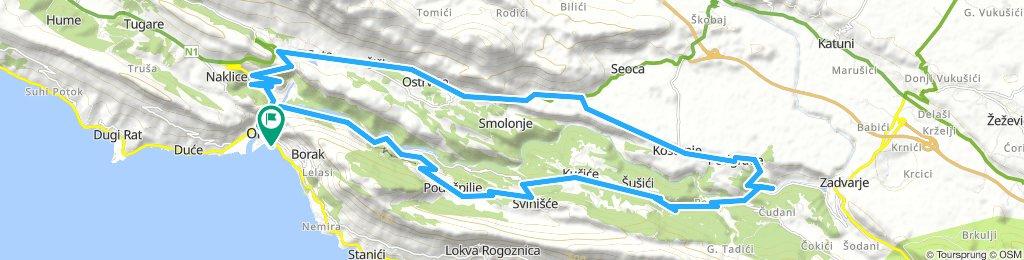 Omiš loop 44km