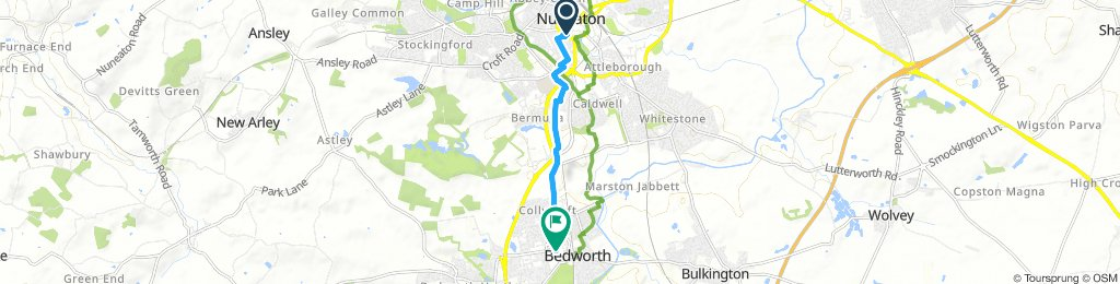 nuneaton to bedworth