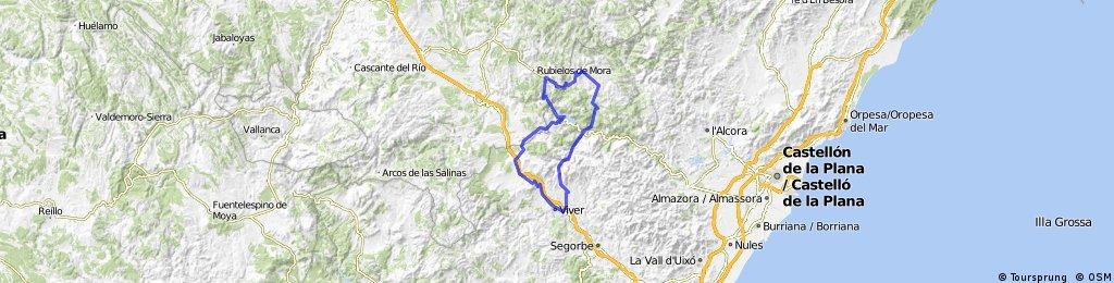 Jérica-Barracas-Olba-Cortes-Montanejos