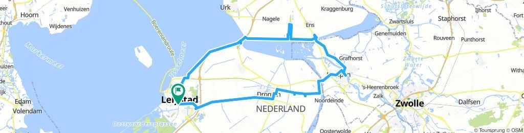 Lelystad -Schokland - Kampen - Elburg - Lelystad
