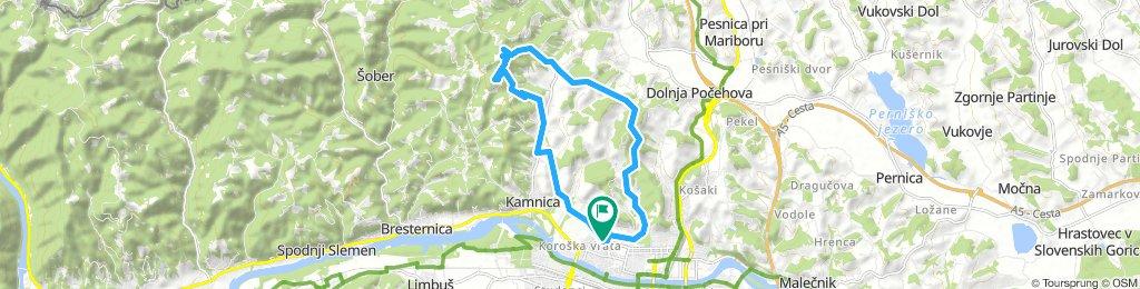 Vrbanska - Cesta v Rošpoh - Urban - Rošpoh - Ribniško selo - Vrbanska