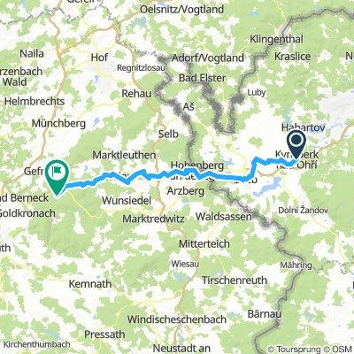Kyšperk nad Ohri, Tchequie  / Bischofsgrün, Allemagne