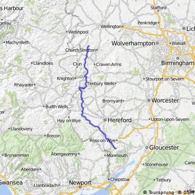 LEJOG Day 5 - Welsh Bicknor YH to Bridges YH