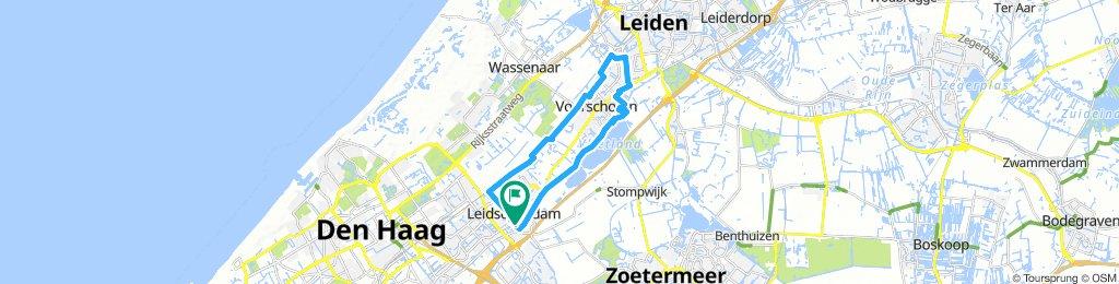Leidschendam-Voorschoten-Leiden 20km fietsrondje