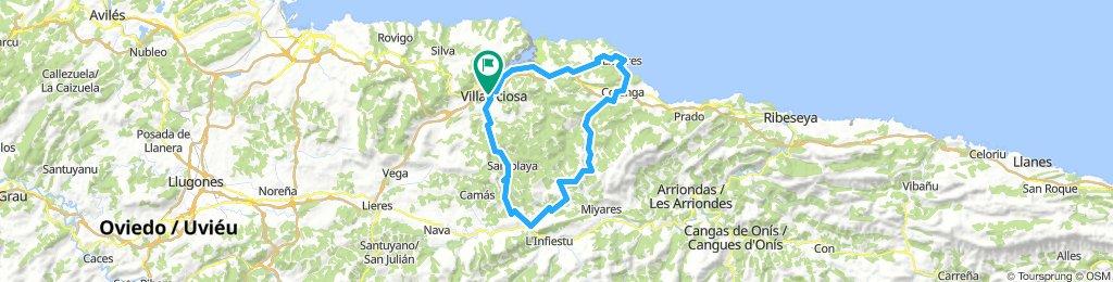 Villaviciosa - Cabranes - Altu La Llama - Colunga - Llastres - Villaviciosa