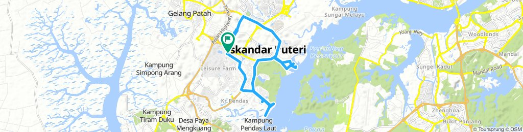 Relaxed route in Pulai