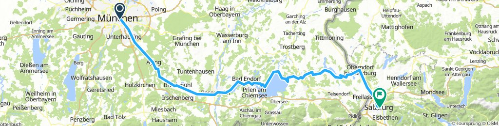 Munich-Salzburg 168 km
