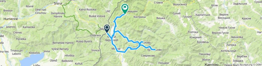 Čornoholova-Bukivcevo-V. Berezny 1.deň