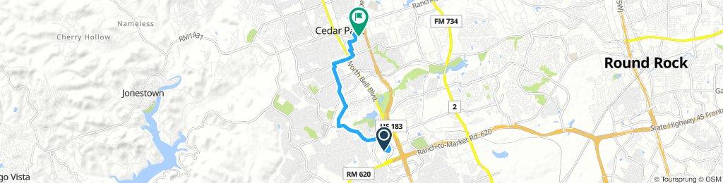 Snail-like route in Cedar Park