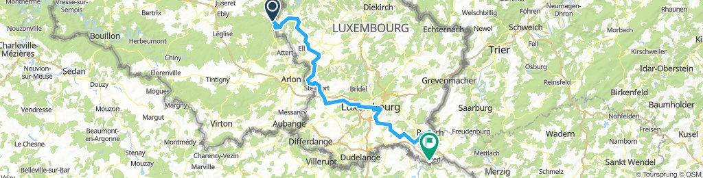 Eurovélo 5 Luxembourg