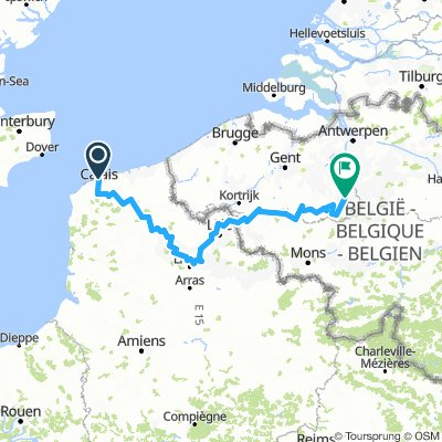 Cycling routes and bike maps in and around Calais | Bikemap - Your on