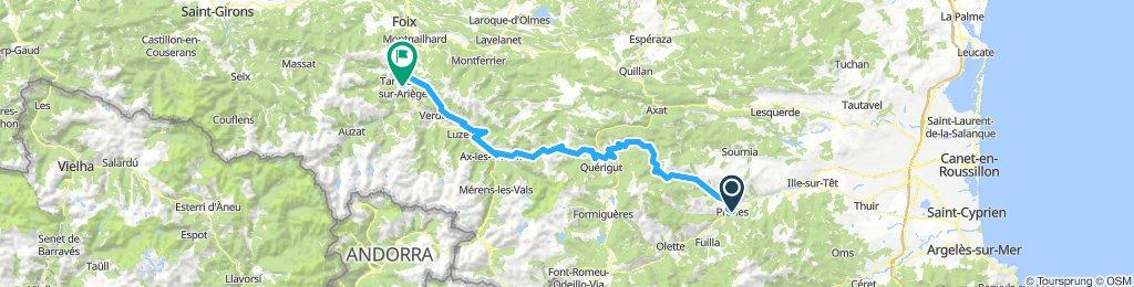 Pyreneen Dag 1 Prades- Tarascon-sur-Ariege