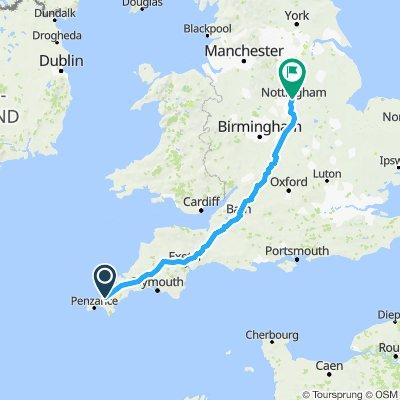 Staffline Charity ride - Cornwall - Nottingham