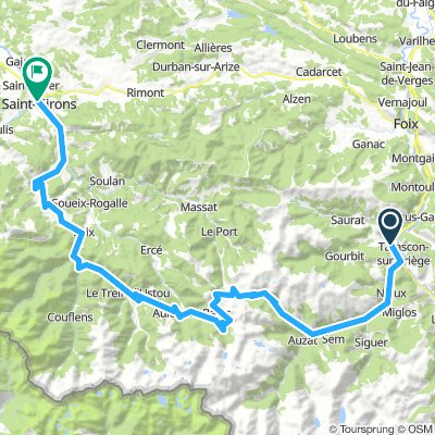 Pyreneen dag 2 -  Tarascon sur Ariege - St Girons