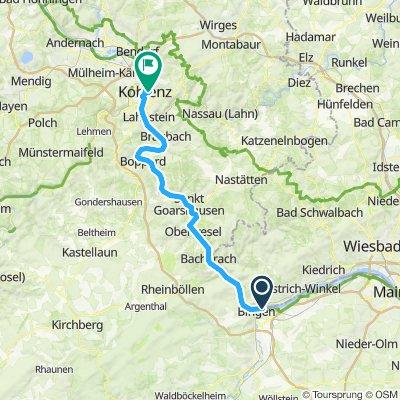 Bingen am Rhein, Allemagne / Koblenz, Allemagne