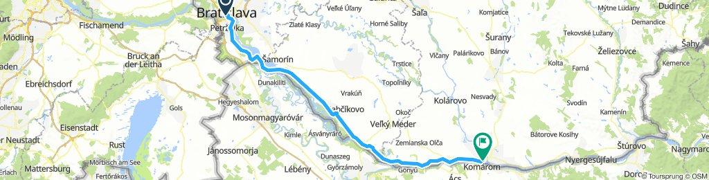 Bratislava to Komarom