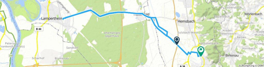 Route im Schneckentempo in Weinheimi