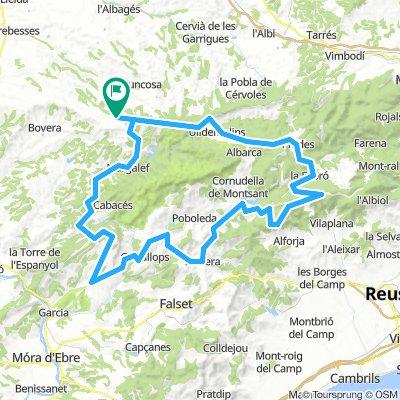 Bellaguarada - Porrera - Mussara - Prades 115Km. 2100m.d+