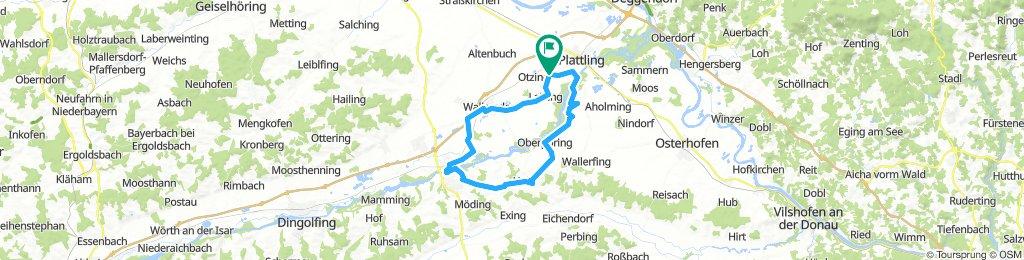 Pielweichs-Lailling-WallersdorfHaidlfingermoos-Landau-Wisselsdorf-Oberpöring-Pielweichs