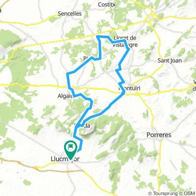 Mallorca: Llucmajor-Randa-Montuïri-Lloret-Ruberts-Pina-Algaida-Llucmajor