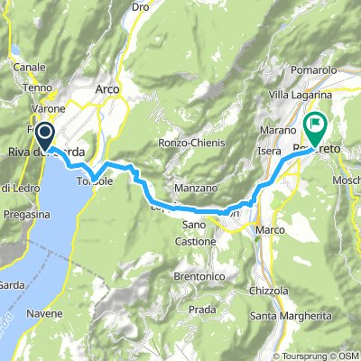 Map 10 - Riva Del Garda to Rovereto