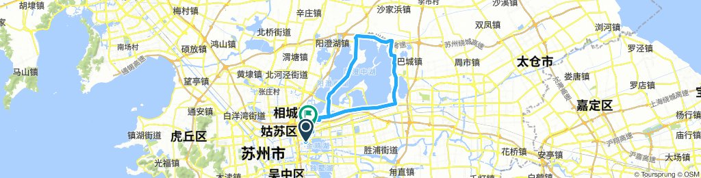 Snail-like route in Suzhou