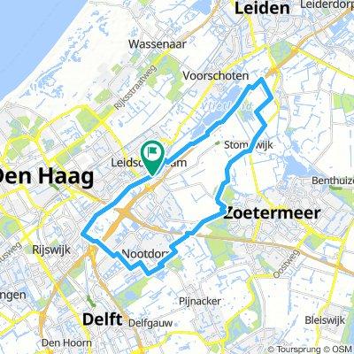 Leidschendam-Rijswijk-Zoetermeer-Stompwijk 34km trainingsrondje