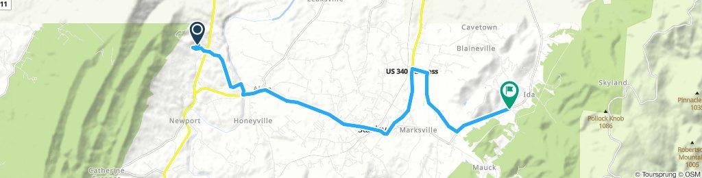 Snail-like route in Stanley