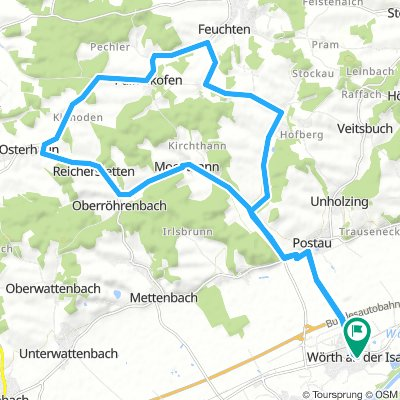 Wörth-Ergoldsbach-Paindlkofen-Oberköllnbach-Wörth