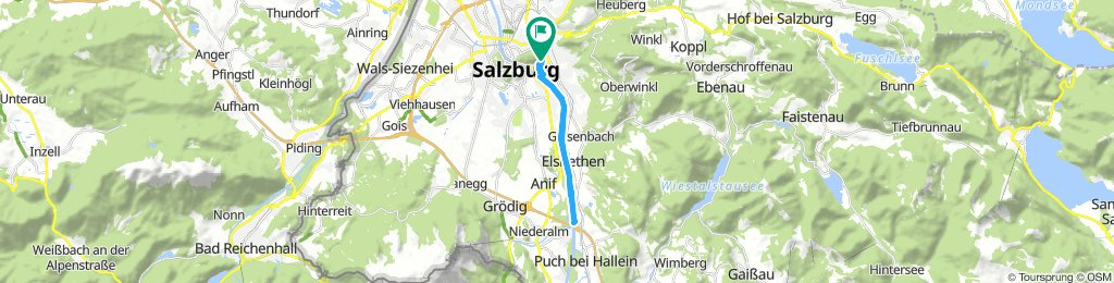 Langsame Fahrt in Salzburg