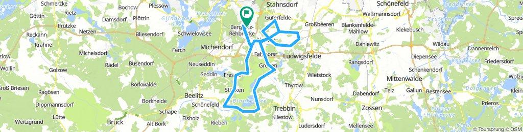 rundkurs Rehbrücke-Stücken-Stangenhagen-Blankensee inkl. Ludwigsfelde-Güterfelde