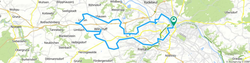 Von DD über die Oberdörfer nach Wilsdruff u.zur.