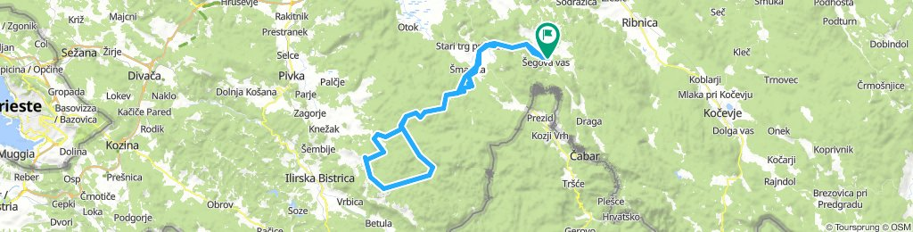 Loški potok -Grad snežnik, Sviščaki,Velika Milanja, Mašun, nazaj loški potok