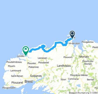 Day 1 Roscoff - Aber Beniot 71 km