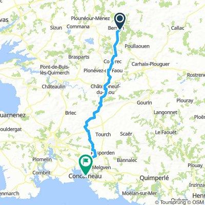 Day 6c Concarneau to Berrien 80km