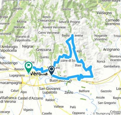 S.Michele -Castelcerino - Illasi - Badia - Bettola - Mezzane di Sotto - Castagnè - Torricella