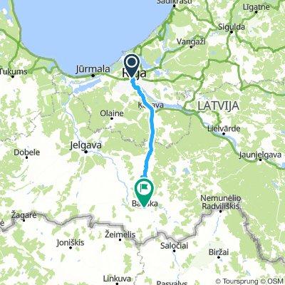 Riga to Bauska