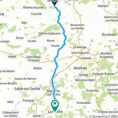 Dag 7 - La Flèche - Saint-Léonard-des-Bois (wo 17/7) OPTIE 1