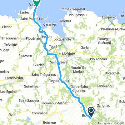 Day 7c Berrien to Roscoff  53km