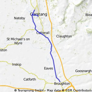 Course for L2525 - used for Wigan open 25 4.9.11