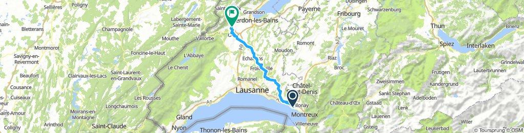 Route - Vevey - Valeyres-sous-Rances