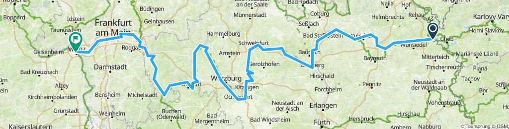 Mainradweg Mainz bis Hohenberg an der Eger
