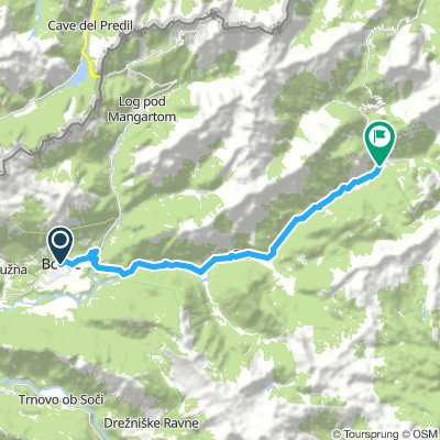 Map 16 Bovec to Trenta