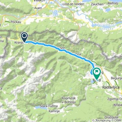 Map 18 Kranjska Gora to Bled