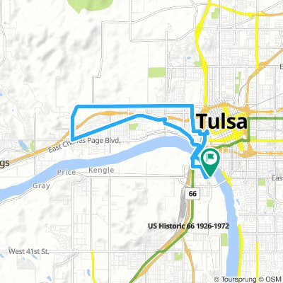 Cycling Routes And Bike Maps In And Around Tulsa Bikemap Your - Tulsa-on-us-map