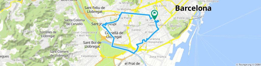 Ruta Hospi-Esplu-SJD-Corne-Bellvit