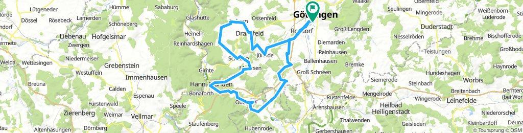 WG Radsport Höhenmeter nach Hann Münden