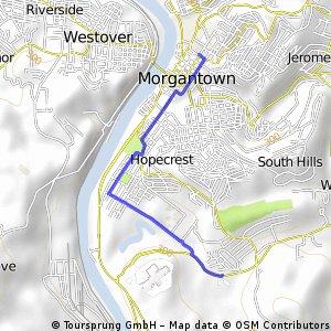 Blue Grass Village -> Downtown Morgantown