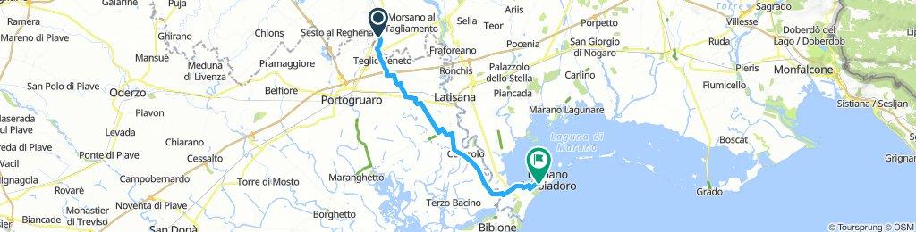 Giro semplice in Lignano Sabbiadoro