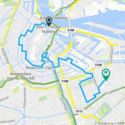 Van Amsterdam centraal naar Muiderpoort